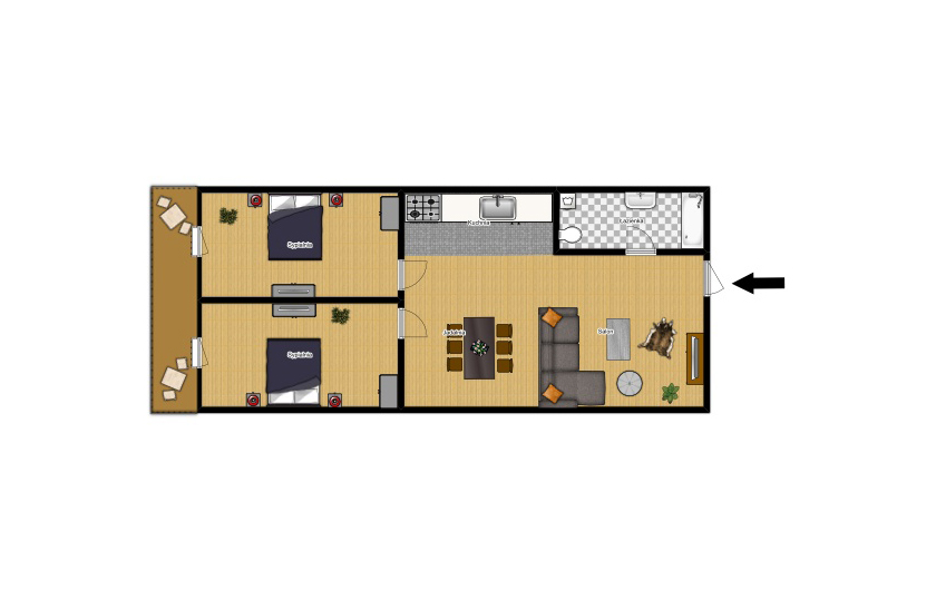 Apartment Gold 22